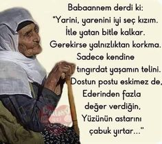 sözler ~Grandma used to say: . Allah Islam, Life Is Short, Meaningful Quotes, Education Quotes, Cool Words, Sentences, Life Lessons, Favorite Quotes, Psychology