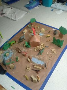Our per -K class made there own dinosaur land.