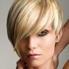 short funky hair- this is actually what I've been growing mine out to do! Thanks, Joni!!! P.S.-I want that color!