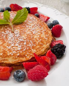 Lemon Ricotta Pancakes with Ginger Syrup and Berries, from Hawaii.