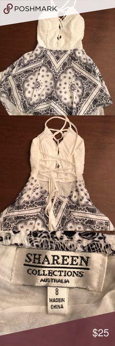 Mura boutique romper Criss cross back Australian size 8 Normal to a us size 2 mura boutique Dresses
