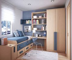 Diy space saving bed ideas space saver beds for teenagers best space saving bedroom furniture space saver beds for teenagers home interior design pictures Space Saving Bedroom, Small Room Bedroom, White Bedroom, Small Rooms, Master Bedroom, Teen Bedroom Furniture, Bedroom Decor, Bedroom Chair, Bedroom Ideas