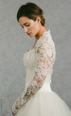 9d3a11be1 Long Sleeve Wedding Gown Topper - Wedding Gown Topper - Long Sleeve Bolero  - Catherine