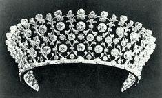 A tiara belonging to Tsarina Alexandra Feodorovna.