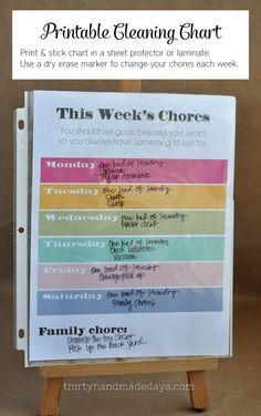 Printable Chore Char