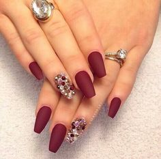 Image via We Heart It #elegant #fashion #gorgeous #hand #nails #red #rings #s
