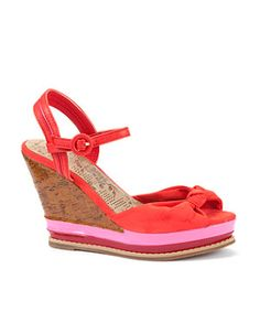 New Look coral wedges