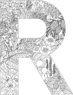 Letter R Coloring page from English Alphabet with Plants category. Select from 20821 printable crafts of cartoons, nature, animals, Bible and many more.