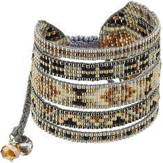 Mishky Embellished Bracelet (6.165 RUB) via Polyvore featuring jewelry, bracelets, multicolor, boho jewelry, bohemian bangles, boho bangles, tri color bangles и braid jewelry