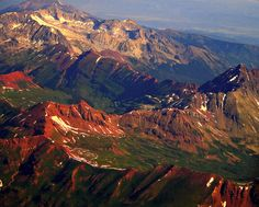 Colorful Colorado Rocky Mountains from 16,000 feet