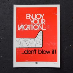Enjoy Your Vacation - Poster
