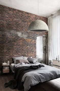 52 ideas for red brick wallpaper bedroom ideas Red Brick Wallpaper Bedroom, Brick Wall Bedroom, Red Wallpaper, Wallpaper Ideas, Brick Wallpaper Apartment, Faux Brick Panels, Exposed Brick Walls, Exposed Beams, Modern Bedroom Furniture