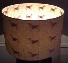 40cm Inside Out William Morris Hound Lampshade by TheLitttleBrickHouse on Etsy
