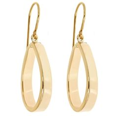 18K Yellow Gold Polished Tear Drop Dangles  Select Jewelry™ 18K Yellow Gold Polished Tear Drop Dangles    Please report any items that arrive damaged within 72 hours.          UNWORN can be returned within 30 days