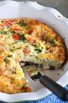 Skinny Southwestern Crustless Quiche Recipe {Vegetarian} | cookincanuck.com #vegetarian #breakfast by CookinCanuck, via Flickr
