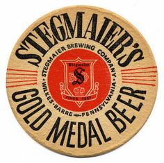 Stegmaier's Gold Metal Beer by Bart. Beer Can Collection, Sous Bock, Beer Club, Cool Coasters, Beer Mats, Beer Packaging, Wine And Spirits, Vintage Labels, Bottle Design