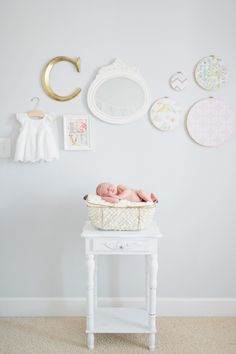Pastel colors and beautiful decorations for this delightful room designed for a tiny princess.