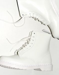 Dr. Martens   White Combat Boots - I need these now.