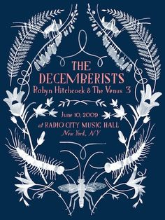 GigPosters.com - Decemberists, The - Robyn Hitchcock & The Venus 3
