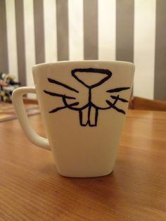 Sharpie plus Coffee Mug equals adorable Easter Bunny gift!  Kidfolio - the app for parents - kidfol.io