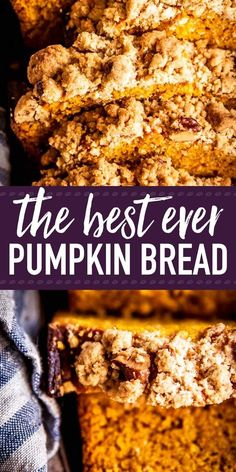 This is an easy recipe for a moist and fluffy pumpkin bread that will have everyone begging for more! It's made with the BEST cinnamon pecan streusel topping for extra crunch & flavor. A simple treat, totally from scratch, that will make you feel like Pio