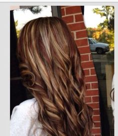 Hair, hair color, hair style, long hair, colored hair, brunette, hair ideas, blond, red, highlights, curly hair