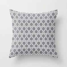 Honeycomb Pattern Pillow - Yellow Geometric Pillow - Modern Throw Pillow - Home Decor - By Aldari H Coral Throw Pillows, Modern Throw Pillows, Modern Pillow Covers, Throw Pillow Covers, Full Duvet Cover, Honeycomb Pattern, Geometric Pillow, Mid Century Decor, Soft Furnishings
