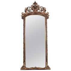 19th Century Italian Giltwood Mirror | See more antique and modern Floor Mirrors and Full-Length Mirrors at http://www.1stdibs.com/furniture/mirrors/floor-mirrors-full-length-mirrors