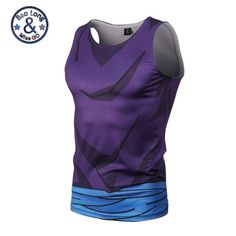 New 2017 Ball Z Men 3D Dragon Ball Z Vest T Shirt Vegeta Goku Summer Style Jersey 3D Tops Fashion men Clothing Tees Plus M-XXXL