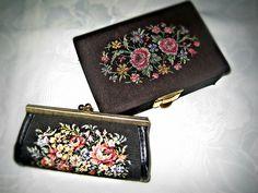 Vintage Portemonnaies - GRANNY SET Tasche und Schatulle 50er Jahre Vintage - ein Designerstück von Mont_Klamott bei DaWanda