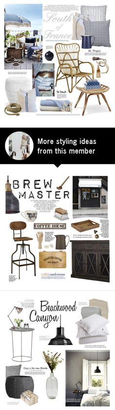 South Of France By Barngirl On Polyvore Featuring Interior Interiors Design Concept BoardLayout