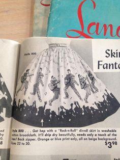 catalogue ad for Elvis print novelty skirt. Vintage Advertisements, Vintage Ads, Vintage Style, Red Fashion, Vintage Fashion, Elvis And Me, Mexican Skirts, Dirndl Skirt, Vintage Borders