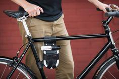 Vélo étui U-Lock monté sur cadre cuir pour par WalnutStudiolo