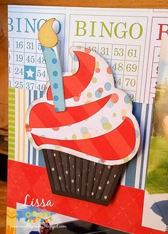 Birthday Layout for Miss Kate Cuttables by Lissa Mitchell