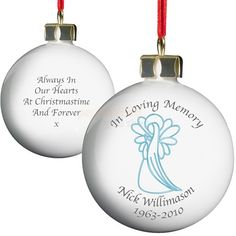 Personalised In Loving Memory Angel Bauble - For Him  from Personalised Gifts Shop - ONLY £9.95