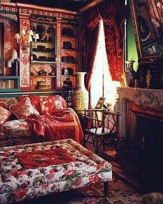gorgeous bohemian living room by digitaleuphoria