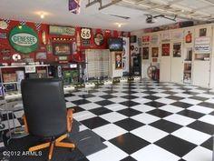 Man cave workshop | ... sparkling clean garage has been transformed into a man cave workshop