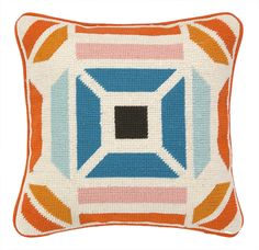 Novato Needlepoint Throw Pillow