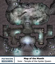 Map of the Month - Back Catalogue Dungeons And Dragons Board, Dungeons And Dragons Homebrew, Fantasy Battle, Fantasy Map, Minis, Rpg Map, Dungeon Maps, Custom Map, Map Design