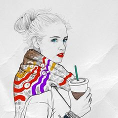 Coffee Time design inspiration on Fab. Illustration Art Drawing, Art Drawings, Time Design, Design Art, Pen Sketch, Time Art, Coffee Time, Tech Accessories, Character Art