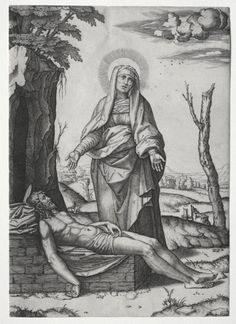 Marcantonio Raimondi - The Pieta (engraving after original by Raphael); Cleveland Museum of Art