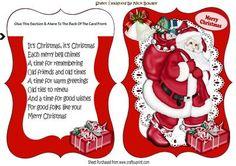 Lovely jolly santa bracket card with verse on Craftsuprint - Add To Basket!