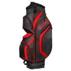 Ogio Press Golf Cart Bag Red/Black - Golf Equipment, Golf Bags at Academy Sports