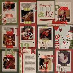 Love this page using 3x4 cards directly on a 12x12 layout - no pockets involved. I have tons of those little cards I need to use!