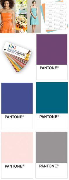 Pantone wedding color swatches!