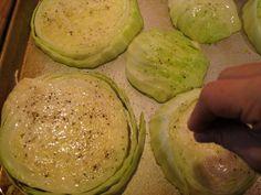 Roasted Garlic Cabbage Slices, Tasty fun Recipes, Healty Recipes, Easy Recipes