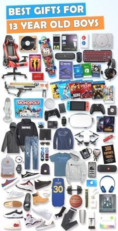 """Browse our Teen Boy Birthday Gift Guide featuring best gifts for teen boys. Discover COOL and unique gifts for Birthdays for your 13 year old teen boy."""" Make his Birthday extra magical with these slam-dunk picks! Boyfriend Anniversary Gifts, Birthday Gifts For Boyfriend, Boyfriend Gifts, Valentine Gifts For Boys, Girlfriend Birthday, Cool Gifts For Teens, Gifts For Teen Boys, Stocking Stuffers For Teenagers, Christmas Gift 13 Year Old Boy"""