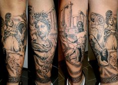 tattoo men greece painting chest - Cerca con Google