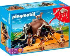 PLAYMOBIL ESQUELETO DE MAMUT CON CAZADORES REF. 5101