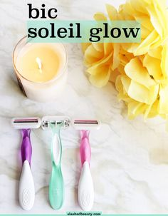 I'm always buying disposable razors because they're so much cheaper than cartridges... but I've finally found one that doesn't actually feel disposable. Click through for my review of the BIC® Soleil® Glow® razors, with features you'd expect from fancier models! | Slashed Beauty